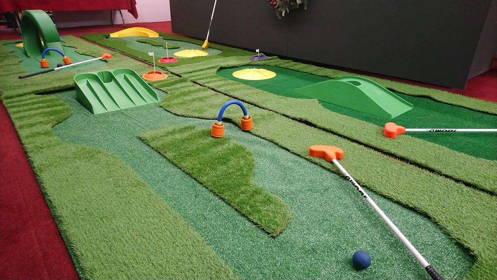 Golf campos de juego portátil para fiestas de animación en Madrid