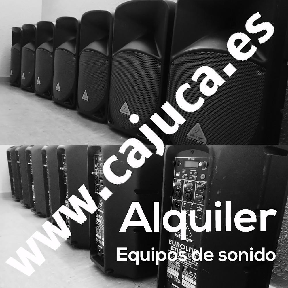 Alquiler equipos de sonido Madrid