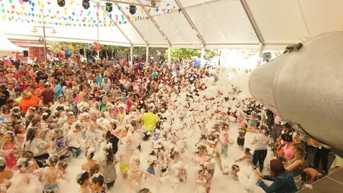 Alquiler cañon fiesta de la espuma Collado Villaba - Madrid