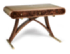 Exquisite leather writing desk by Splinter Works