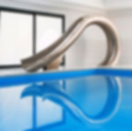 Luxury water slide, designer pool accessories