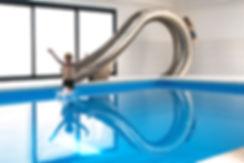 Designer swimming pool slide