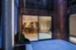 Contemporary townhouse basement kitchen design by Splinter Works