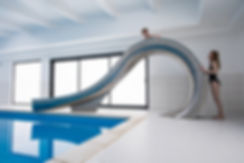 Swimming pool slide designed by splinterworks