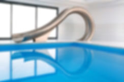 Designe swimming pool slide by Splinterworks