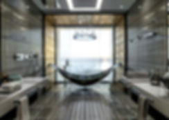 Lusury suspended hammock bathtub