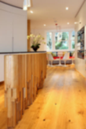 Unique curved kitchen by Splinter Works