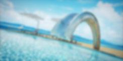 Custom outdoor pool slide by Splinter Works