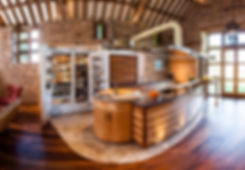 Unique barn restoration kitchen