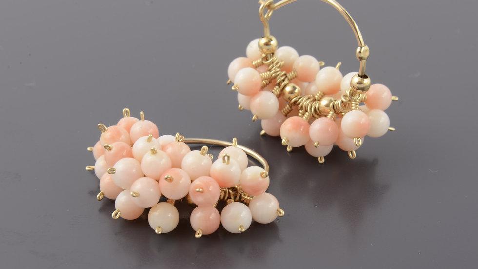 Gold Filled Rose Cluster Earrings