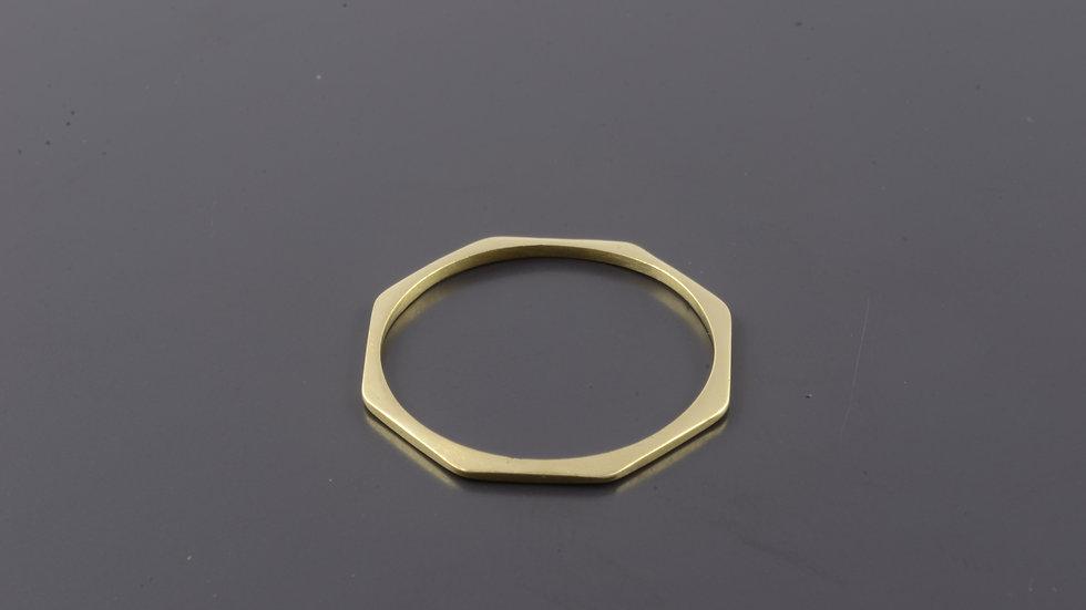 Octogonal  Gold Ring