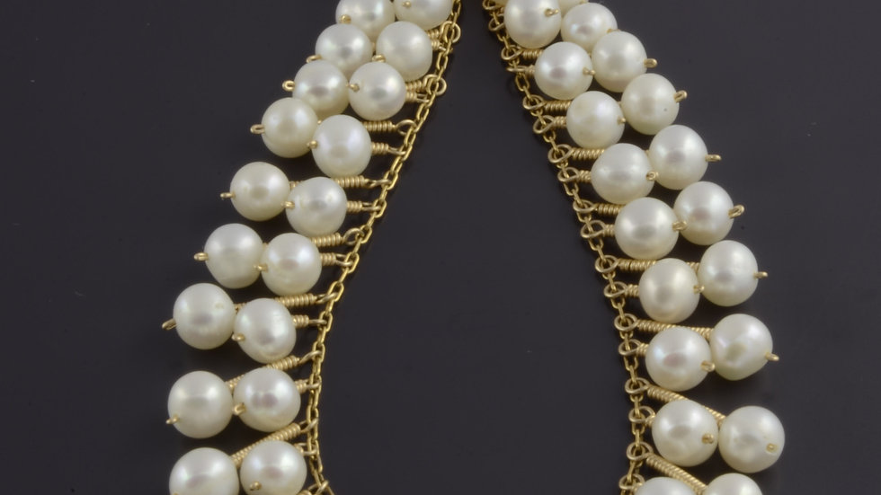 Gold filled and Pearls Necklace