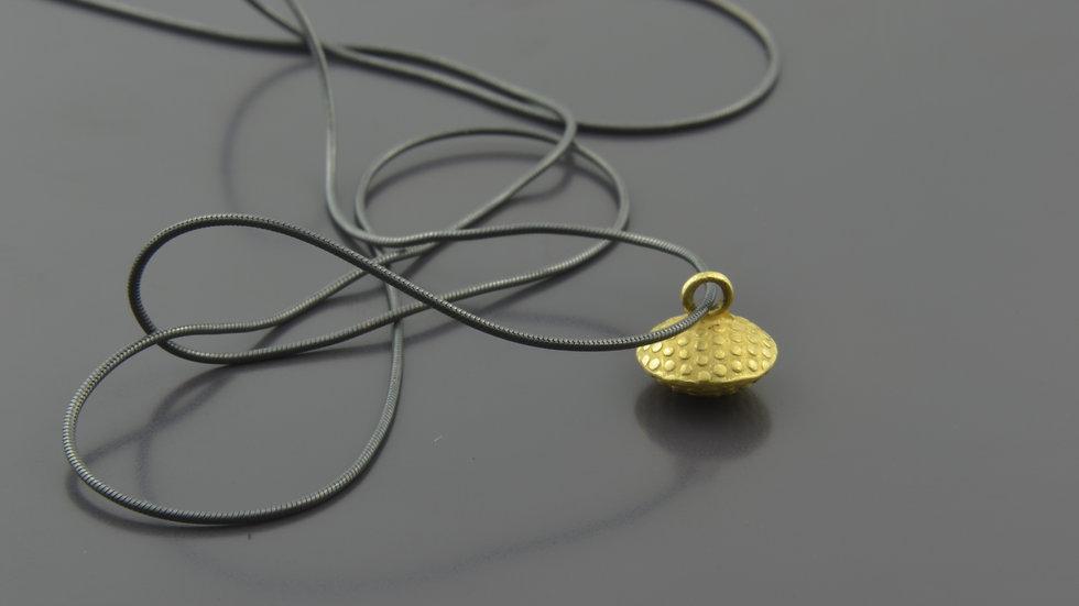 18k Gold truffle Pendant