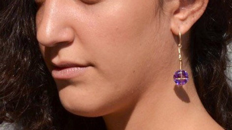 Alexandrite Earrings, June Birthstone Earrings,