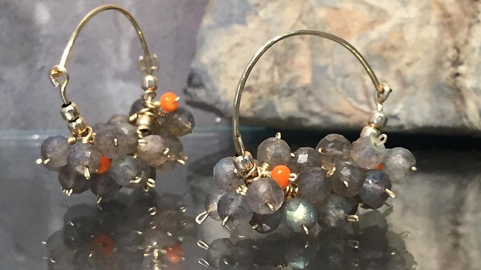 SALE . Boho Gemstone Earrings. Boho Earring.