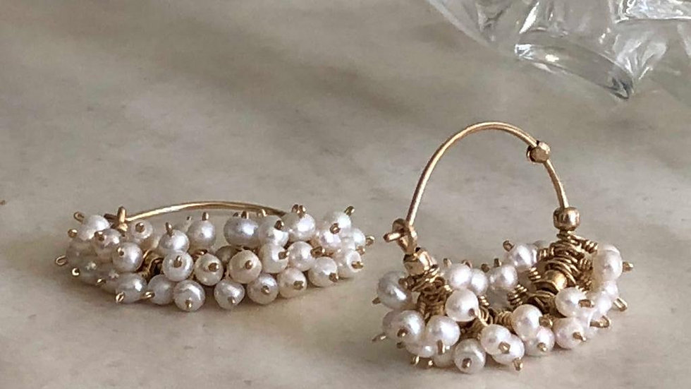 SALE . June Birthstone Earrings. Natural Pearl .