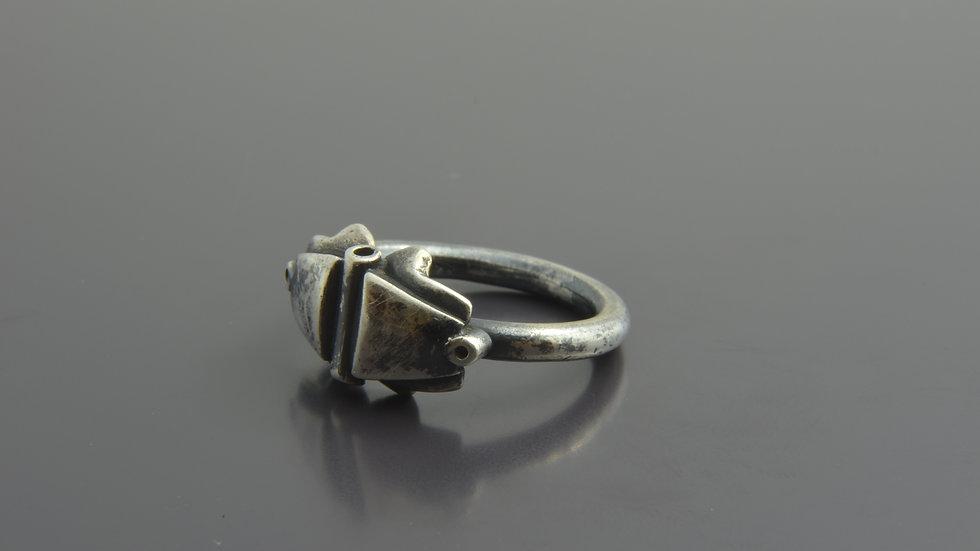 black silver Ring