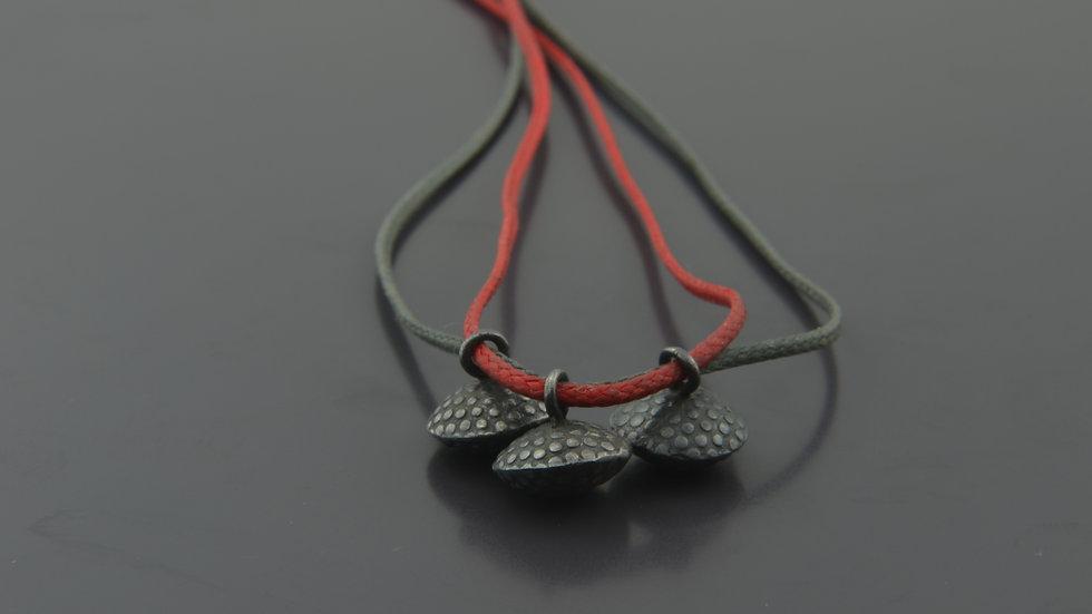 Black silver truffle Pendant