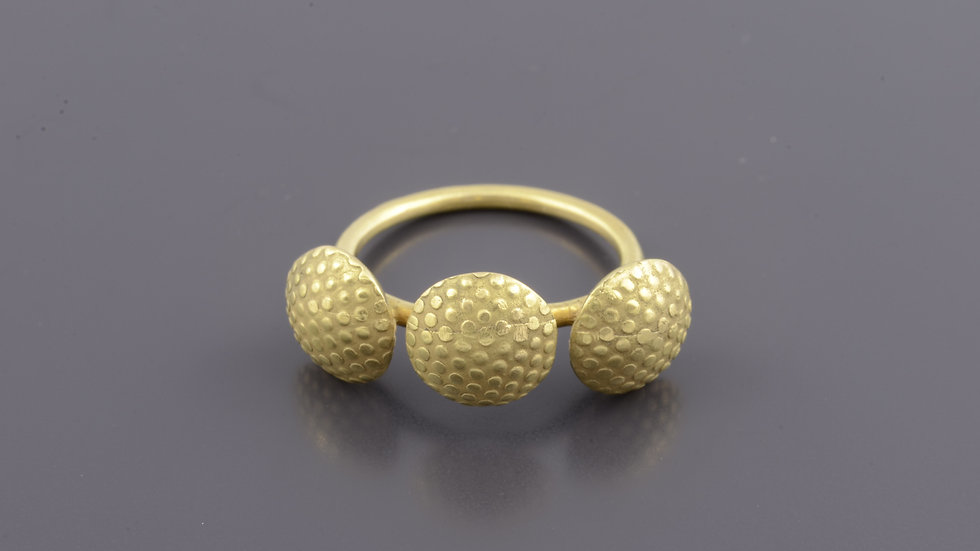 18k Gold Truffle Ring