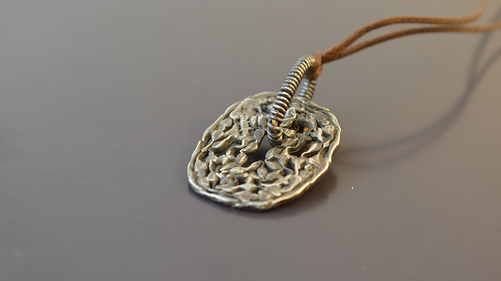 Inspired by Scraps - Silver Pendant