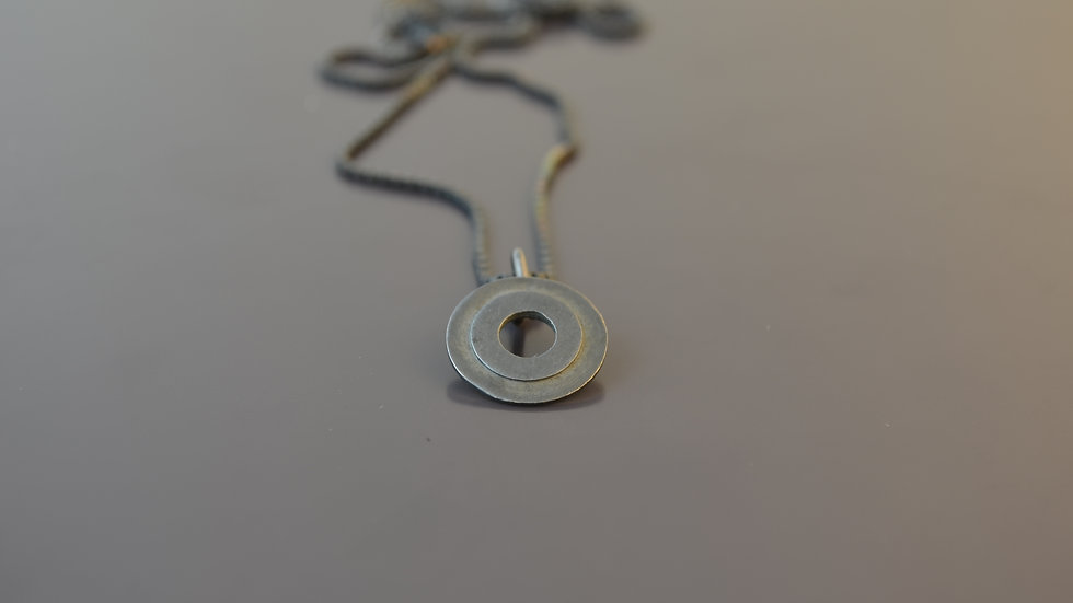 Oxidized Silver Pendant