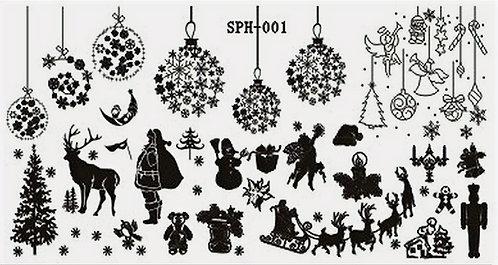 Nail Stamping Blaszka Christmas  001