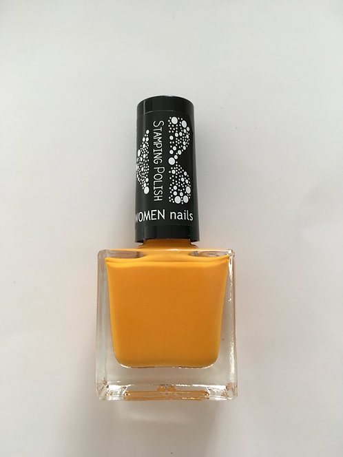 Nail Stamping lakier orange 014