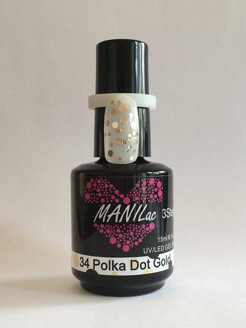 MANILac 34 Polka Dot Gold