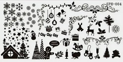 Nail Stamping Blaszka Christmas  004