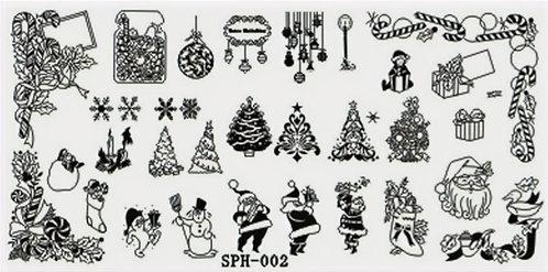 Nail Stamping Blaszka Christmas  002