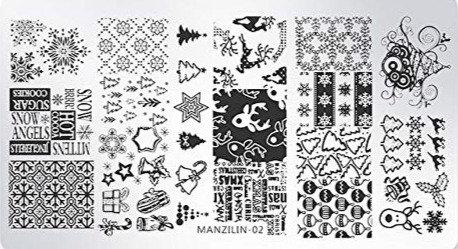 Nail Stamping Blaszka Christmas M02