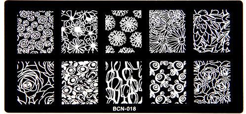 Nail Stamping blaszka BCN 018