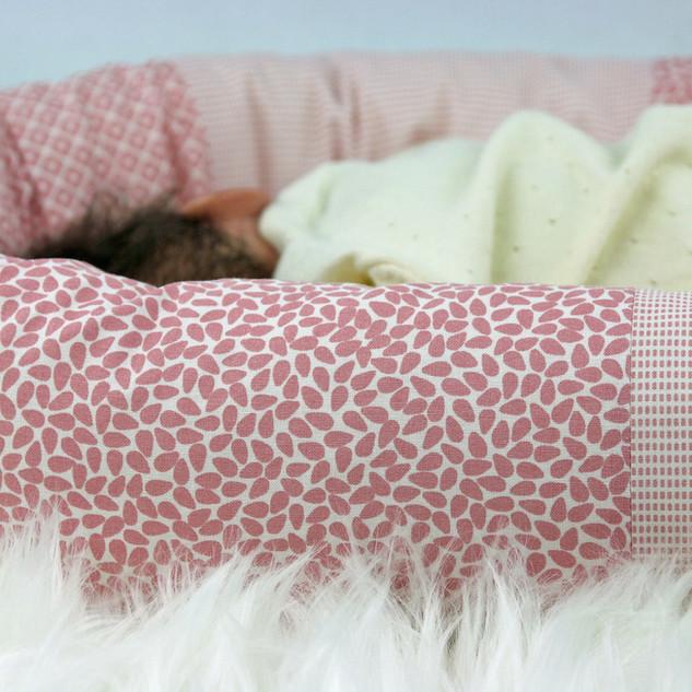 Nestchen Patchwork rosa