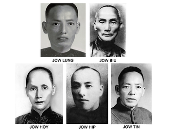 Jow Lung, Jow Biu, Jow Hoy, Jow Hip, and Joy Tin