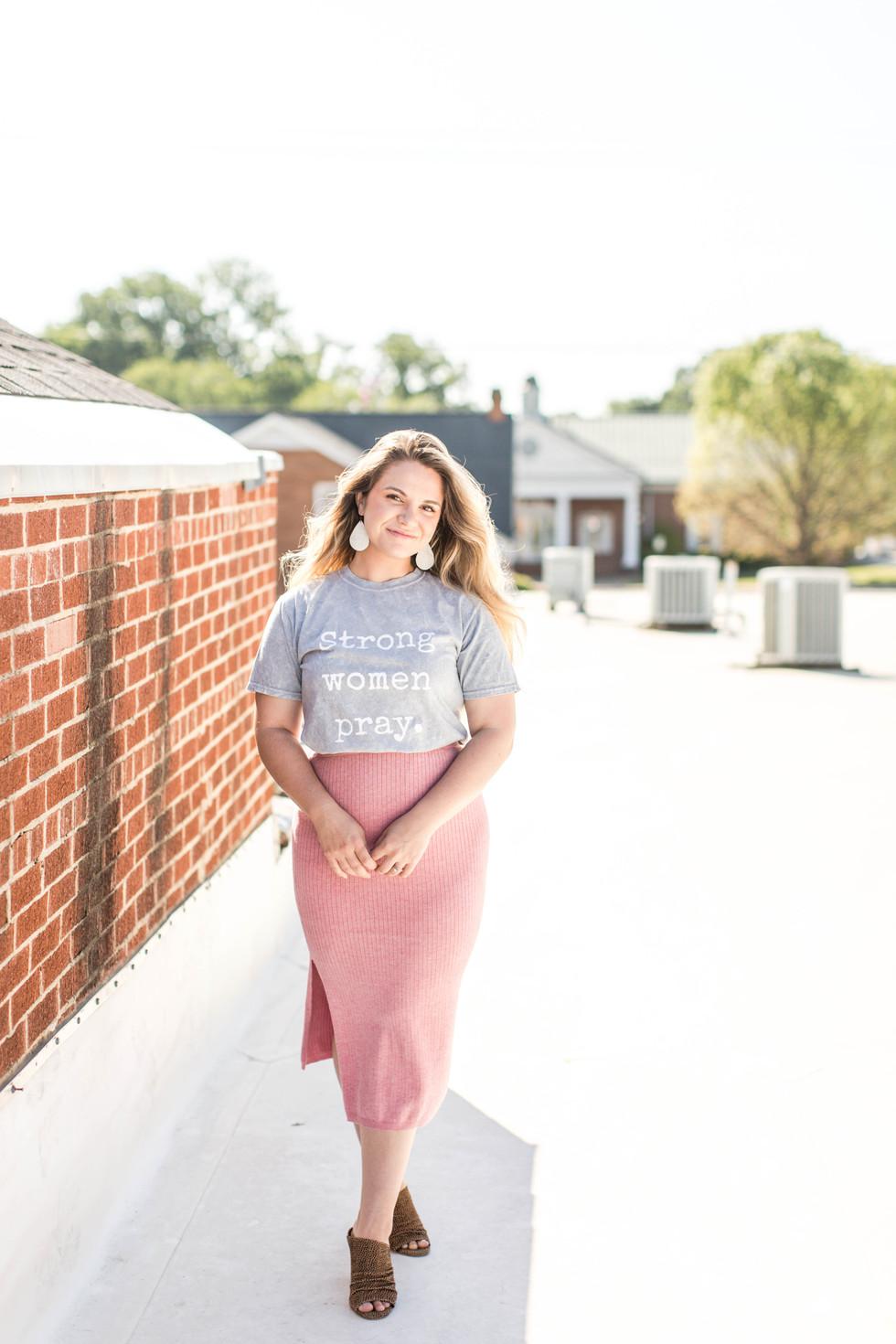 Clothing Line Rooftop Session - Brooke Greiner - York, South Carolina