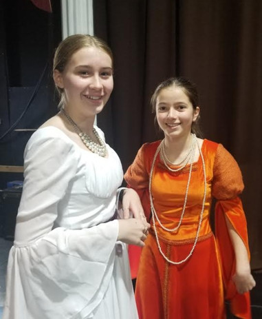 Lady Capulet and Lady Montague at dress