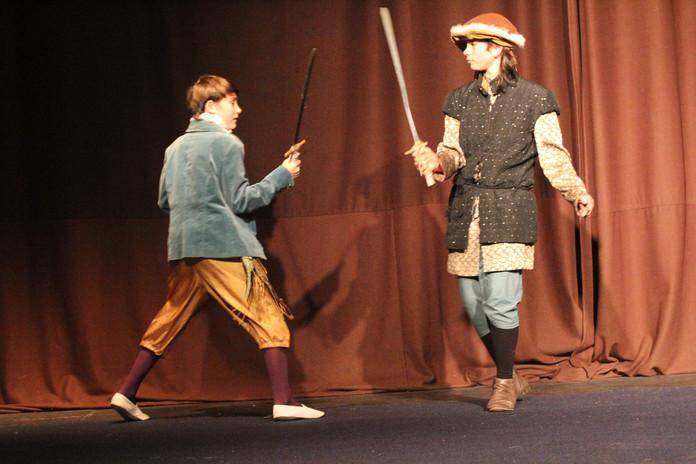 Tybalt and Mercutio fight