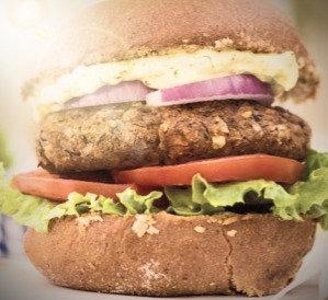 Hamburger Vegetariano al piatto