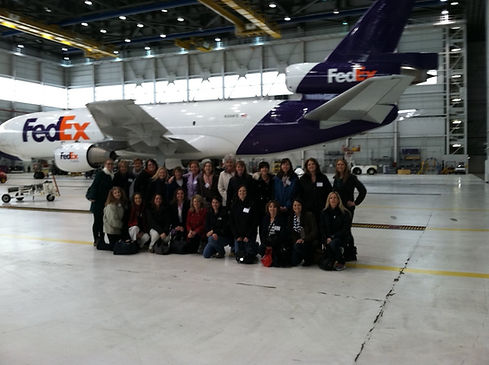 FedEx Hub Tour in front of a MD10