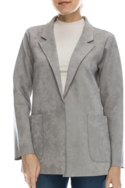 Grey Scuba Blazer