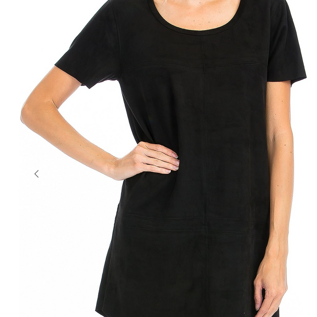 Black Faux Suede Dress