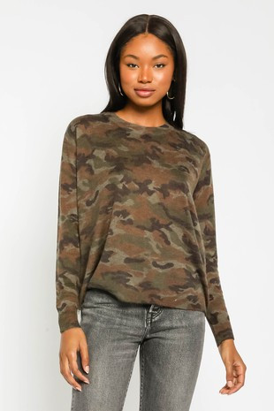 Green Camo Sweater