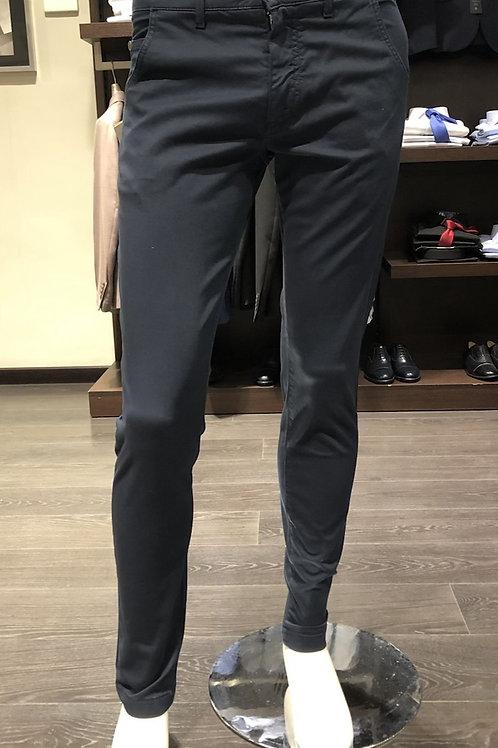 Pantaloni 5 tasche cotone armaturato 2 colori
