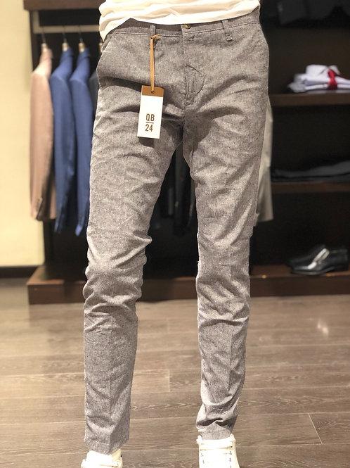 Pantaloni chinos melange