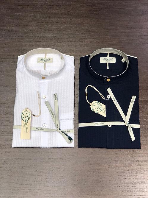 Camicia coreana seersucker