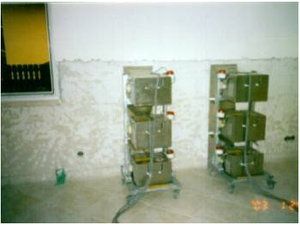 MICROWAVE WALL DRYING FOR BUILDING