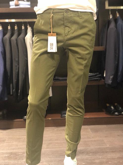 Pantaloni chinos cotone nido d'ape