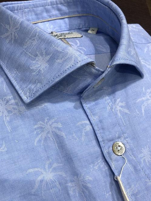 Camicia jacquard palme