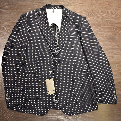 Giacca in lambswool jacquard pois