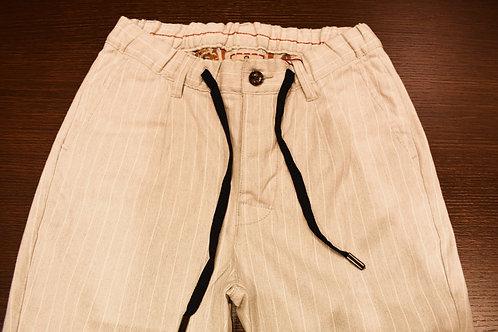 Pantalone gessato con coulisse